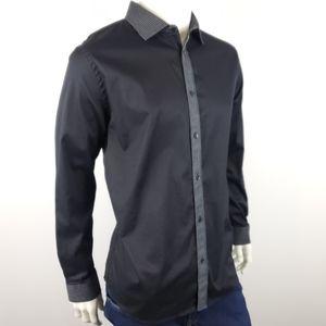 Karl Lagerfeld Black White Stitching Shirt Size XL